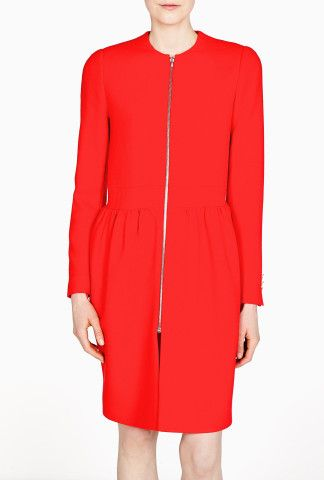 Red Crepe Robyn Coat by Preen