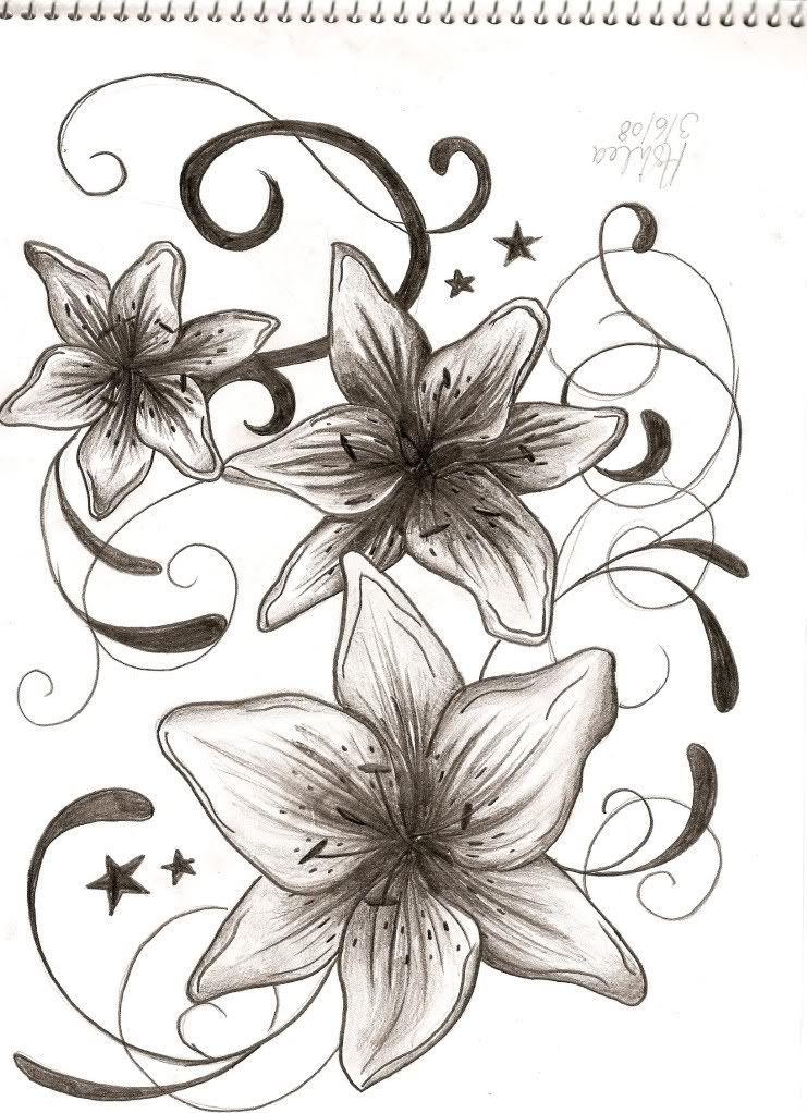 Orange Tiger Lily Tattoo | Lily Tattoo Tribal - LiLz.eu ...