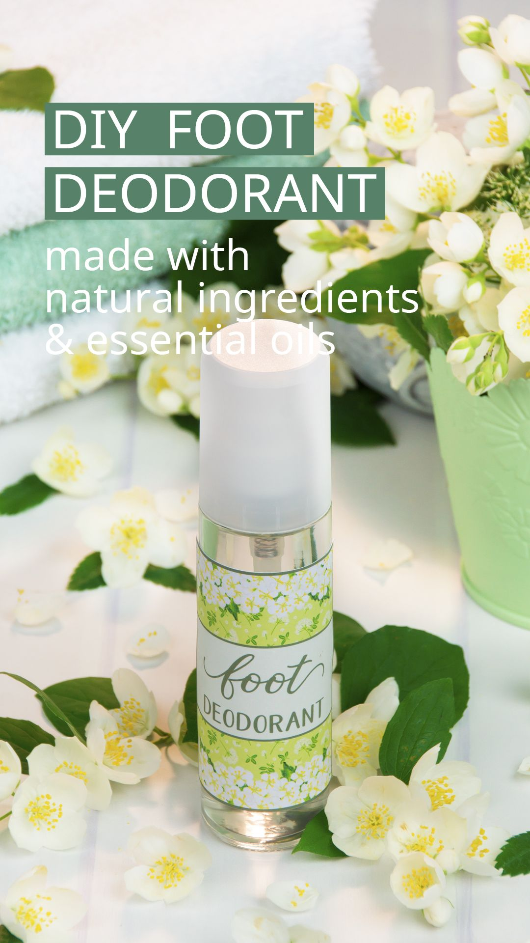 Diy foot deodorant with essential oils deodorant