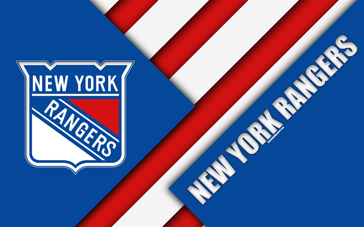 Download Wallpapers New York Rangers Nhl 4k Material Design Logo Blue Abstraction Lines American Hockey Club Ny Usa National Hockey League Besthqwallp New York Rangers Ranger American Hockey