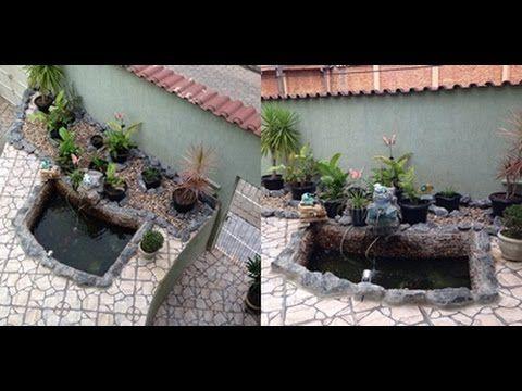 DIY Como fazer lago de jardim (FAÇA VOCÊ MESMA) - YouTube