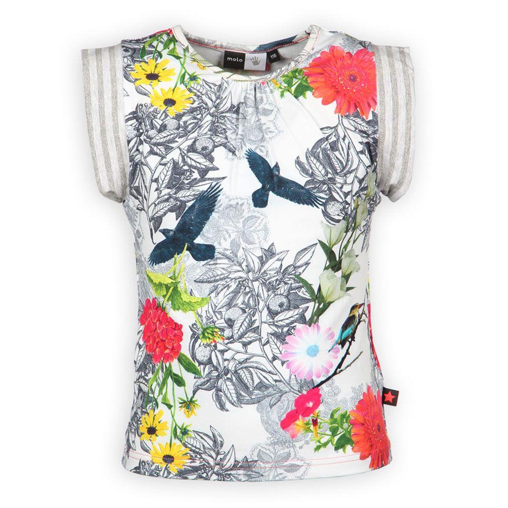 Zomerkleding Molo Meisjes shirt | Natuur Print | Creatief en Trendy | www.kienk.nl
