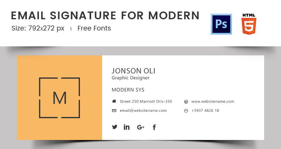 email signature for modern email signature email. Black Bedroom Furniture Sets. Home Design Ideas