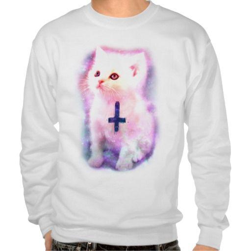 Inverted Cross Kitten Sweatshirt | Zazzle.com #asymmetrischerschnitt