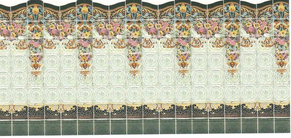 Superb Miniature Dollhouse Building Supplies Modernist Wall Tiles HALF Scale