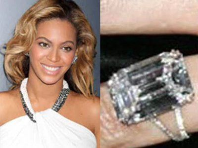 Beyonces 18 carat emerald cut Lorraine Schwartz flawless diamond