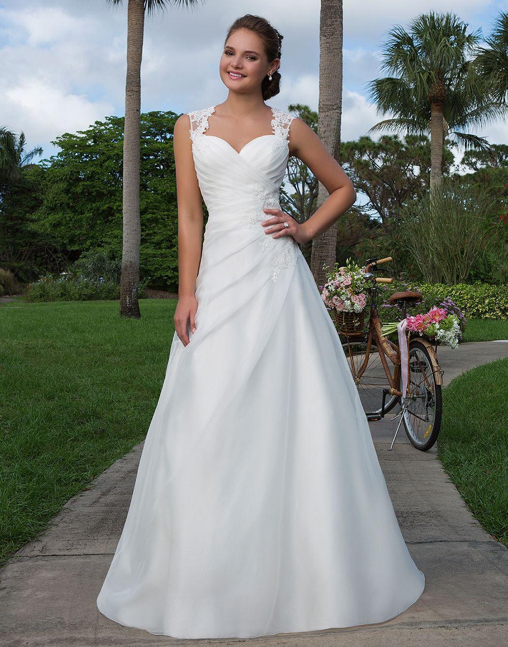 a line organza gown