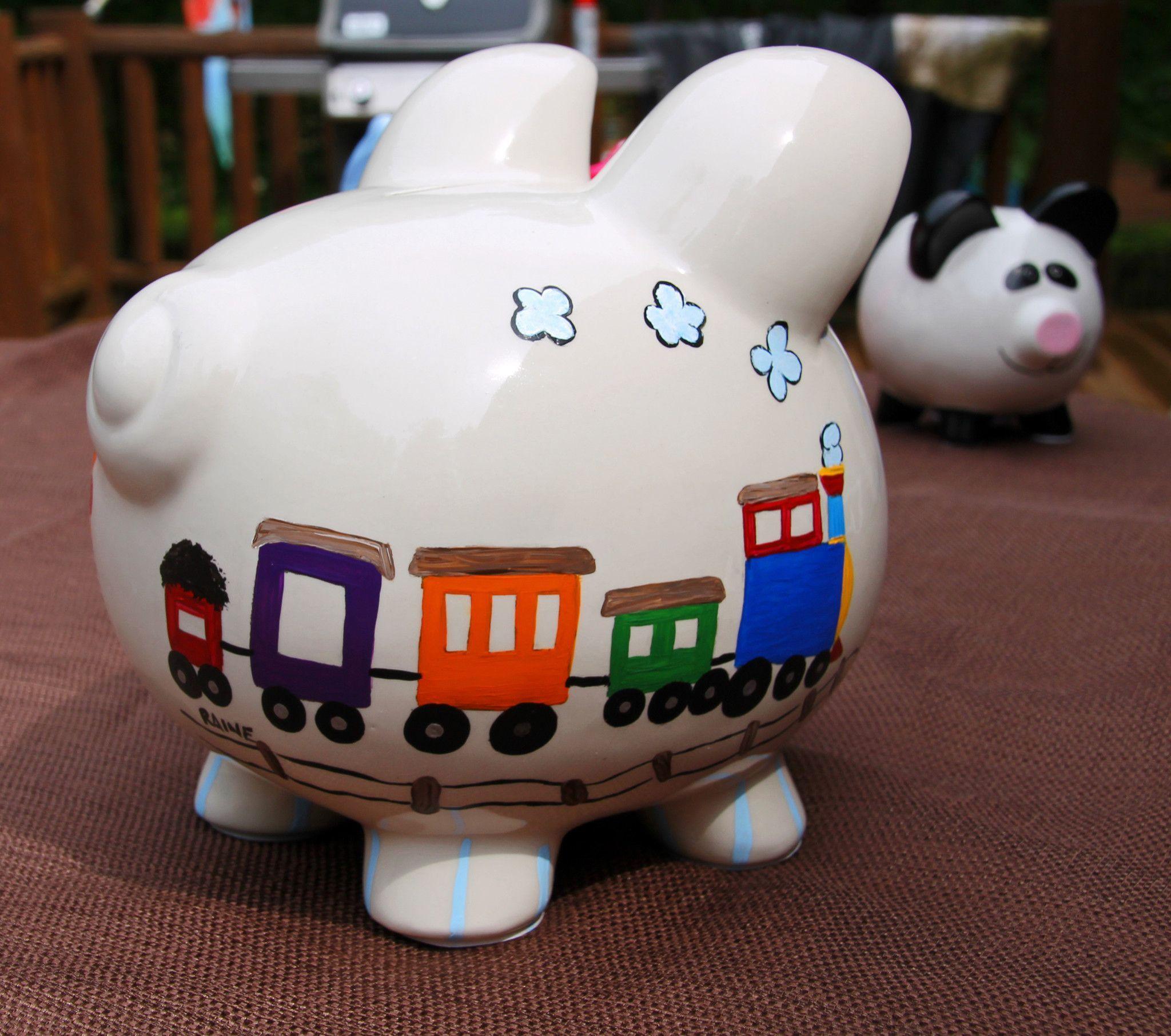 choo choo trainairplane piggy bank  taylor  pinterest  trains  - choo choo trainairplane piggy bank