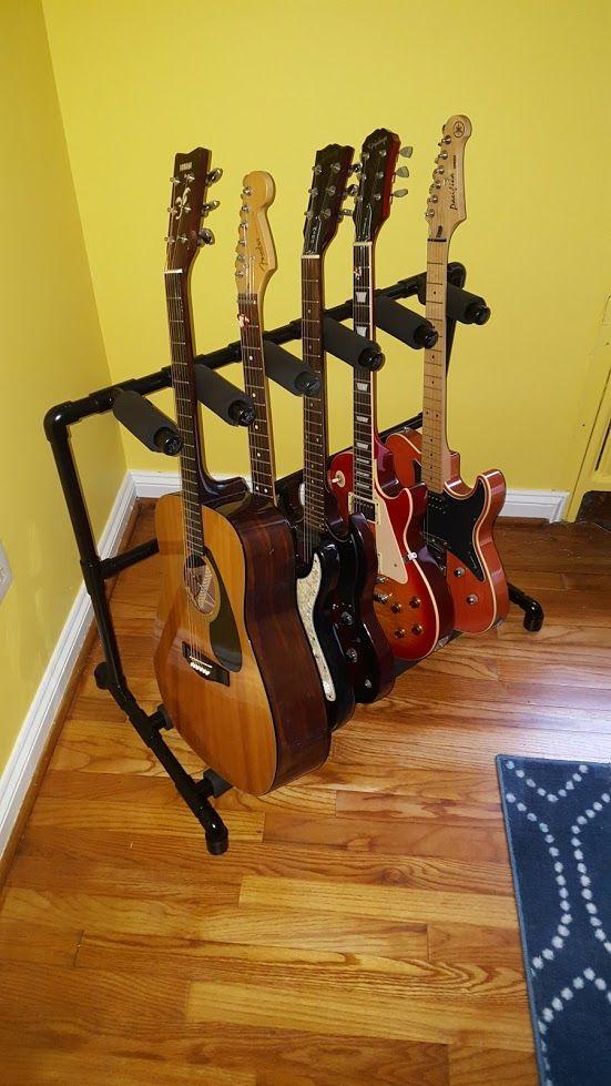 Diy 5 guitar pvc stand diyscoveries pinterest guitars pvc diy 5 guitar pvc stand solutioingenieria Gallery