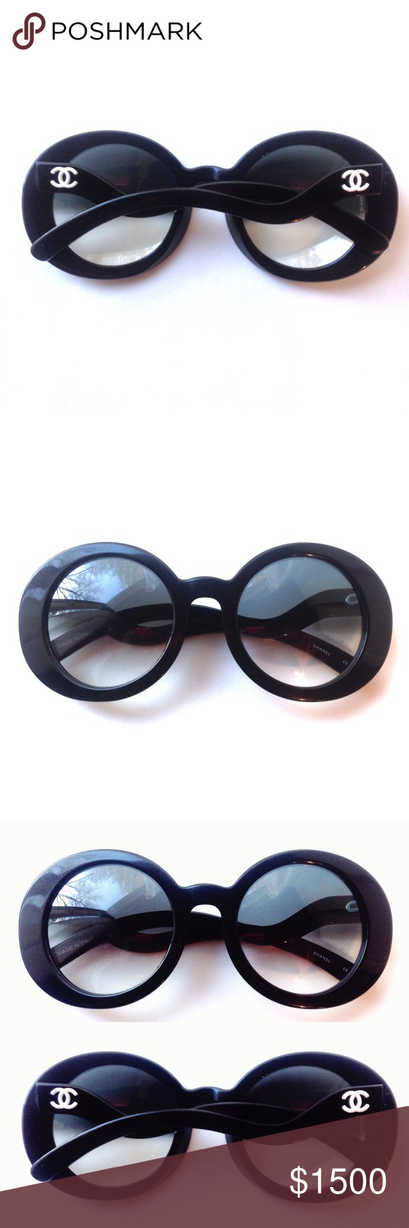 2c3c6f315b39f CHANEL 5018 Half Tint Wavy Arm Sunglasses RARE Very rare authentic CHANEL.  1 of 500