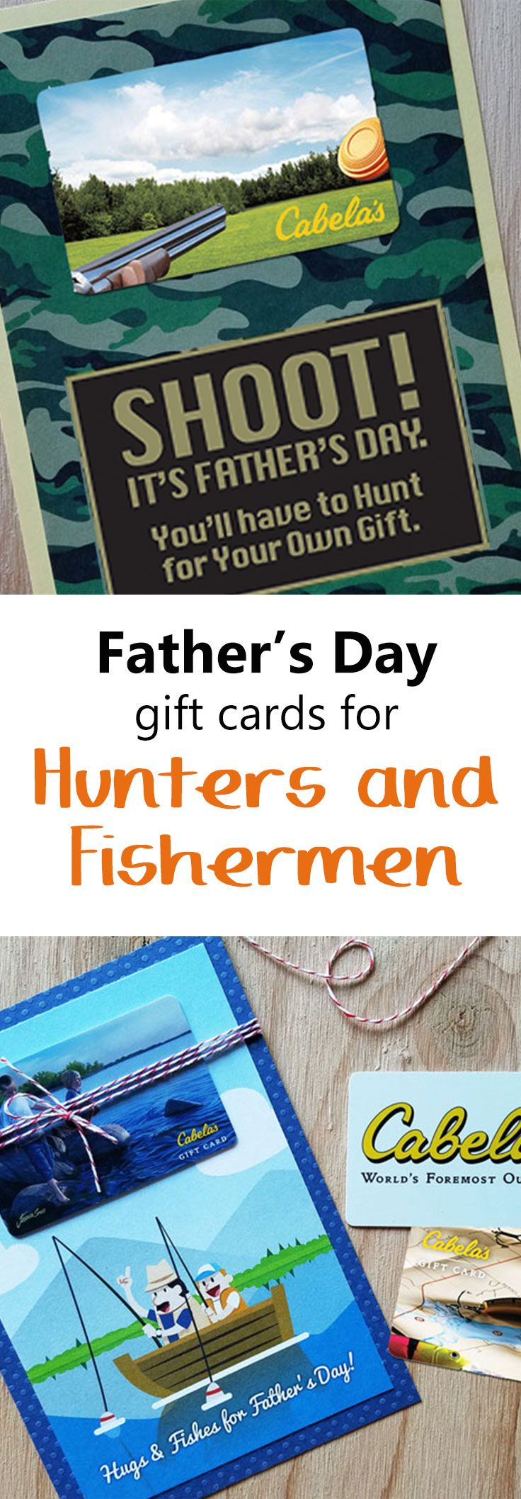 For the dad who likes to hunt or fish, these free printable gift ...