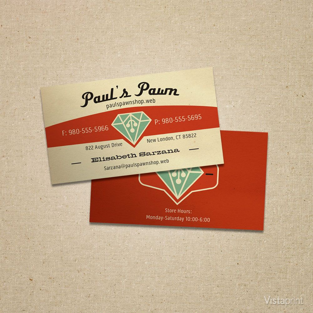 Red Pawn Shop Business Cards | Vistaprint | Graphic Design ...