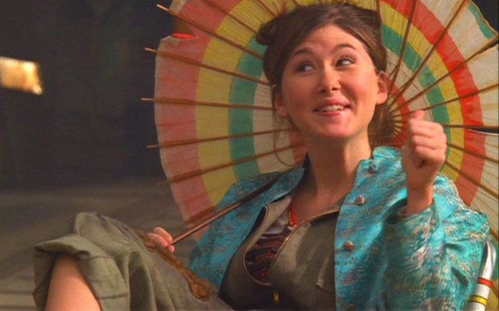 A pic of Kaylee with parasol - for drink umbrellas