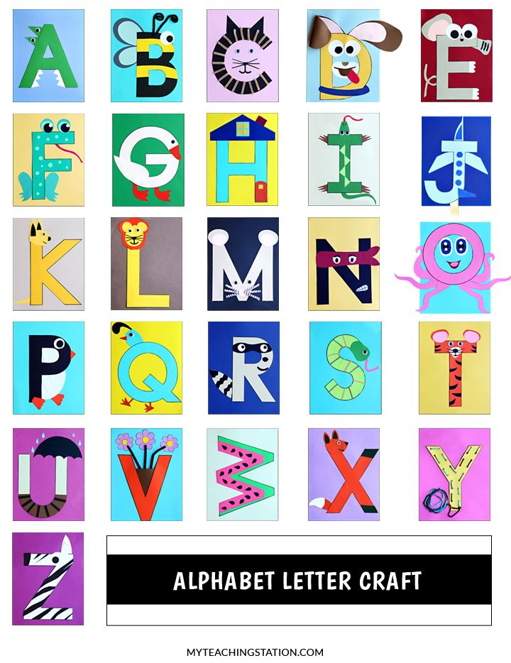 Alphabet Letter Crafts | preschool | Alphabet letter crafts
