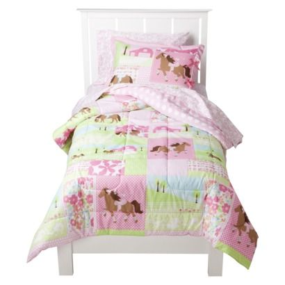 pink horse bedding at Target Girls room Pinterest Horse