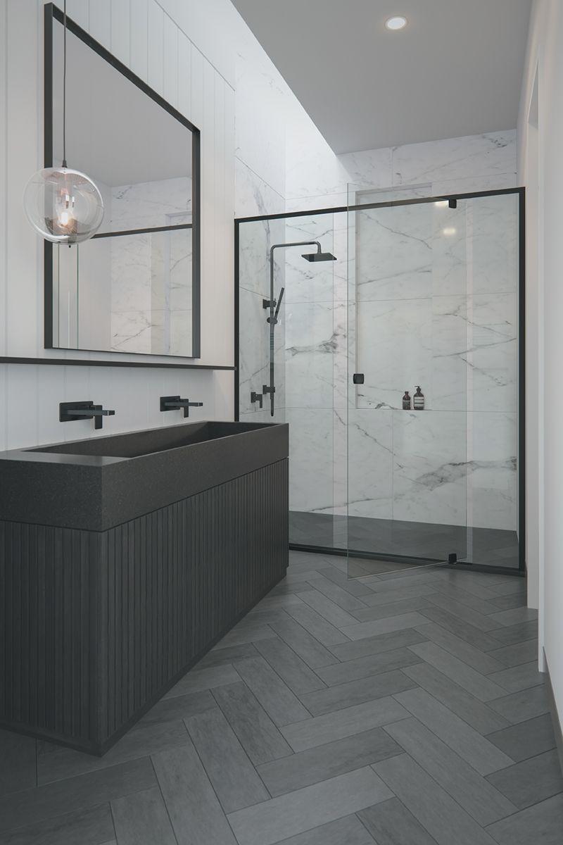 Make A Statement With A Black Grange Semi Frameless Showerscreen