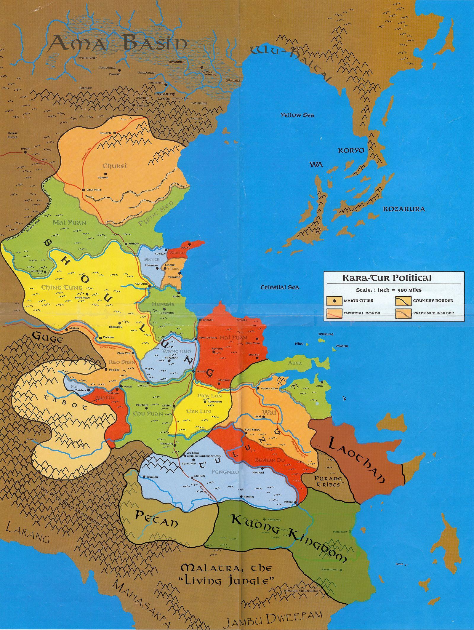 Political map of Kara-Tur by Markustay   D&D 5E in 2019   Fantasy