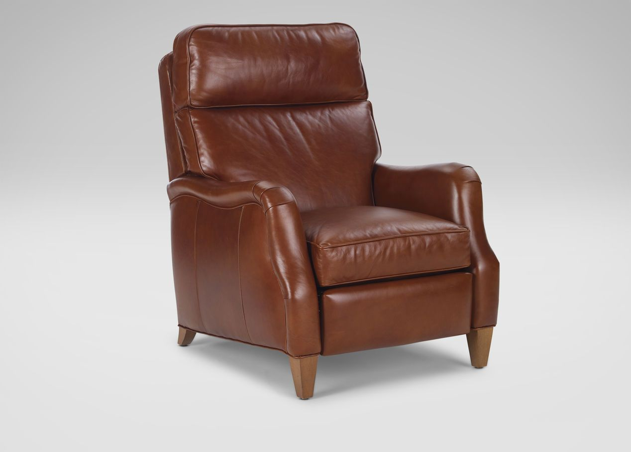Buy Ethan Allenu0027s Aiden Leather Recliner, Old English/Saddle Or Browse  Other Products In Recliners.