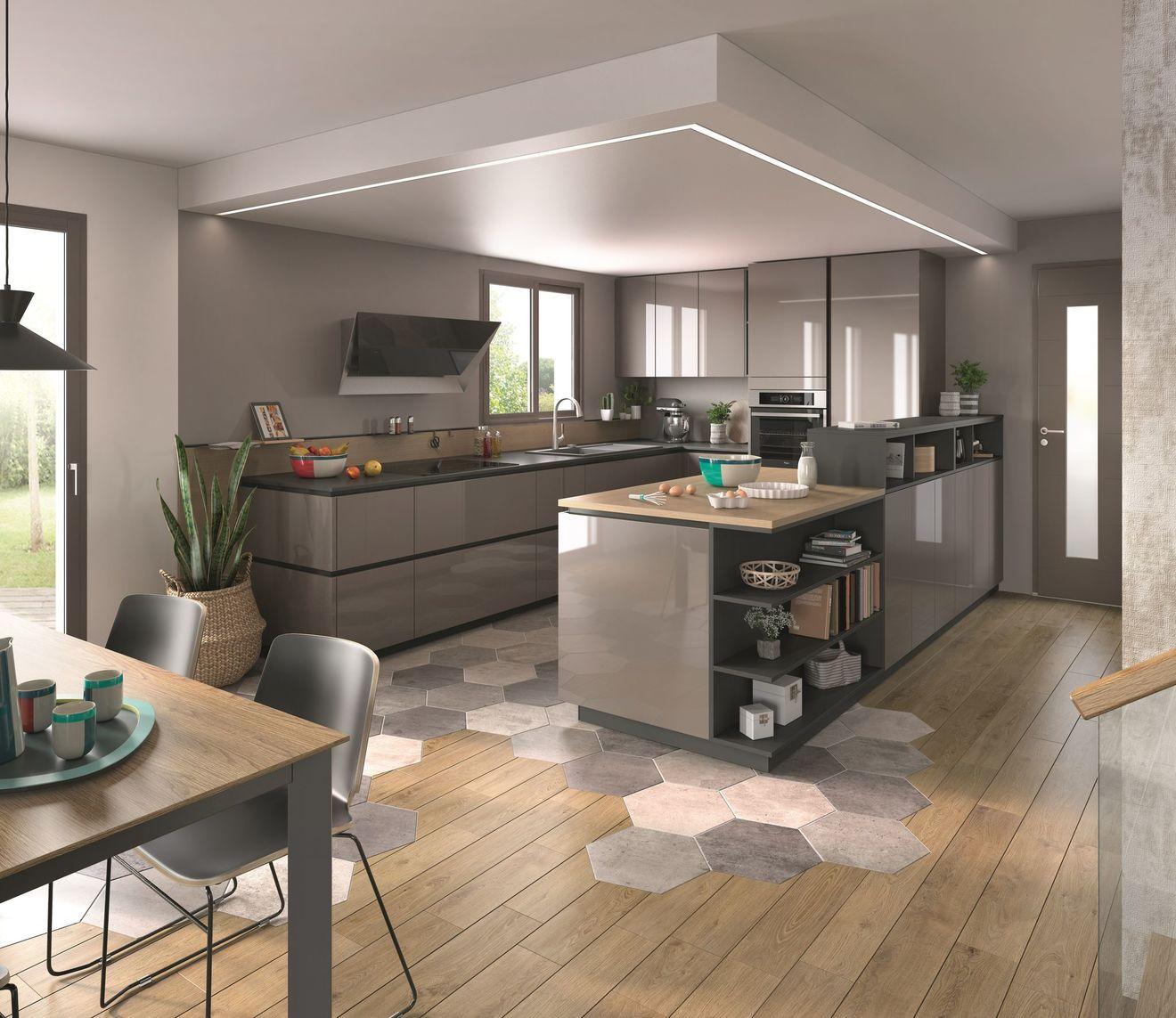 Cuisine ouverte sur salon ou salle manger 20 exemples - Amenagement salon salle a manger cuisine ouverte ...