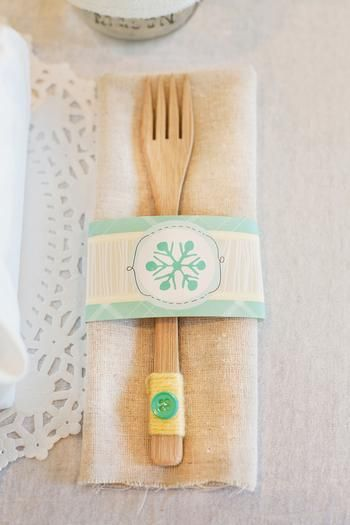 da31a5435267 Snowflake Napkin Ring. Wrap bamboo silverware with winter wonderland ...