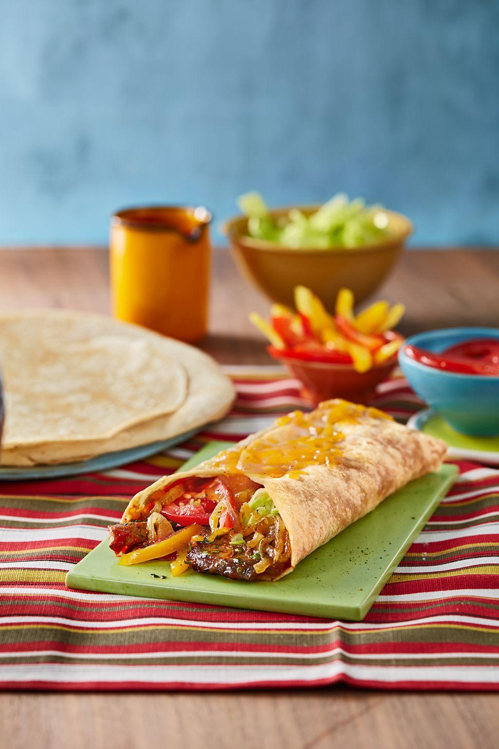Fajitas mit rindfleisch rindfleisch mexikanisch und essen for Mexikanisch kochen