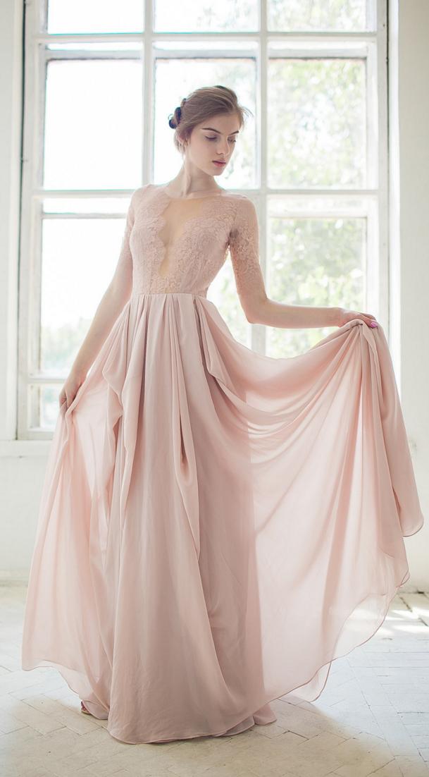 robe de mari e rose blush poudr le look de la mari e
