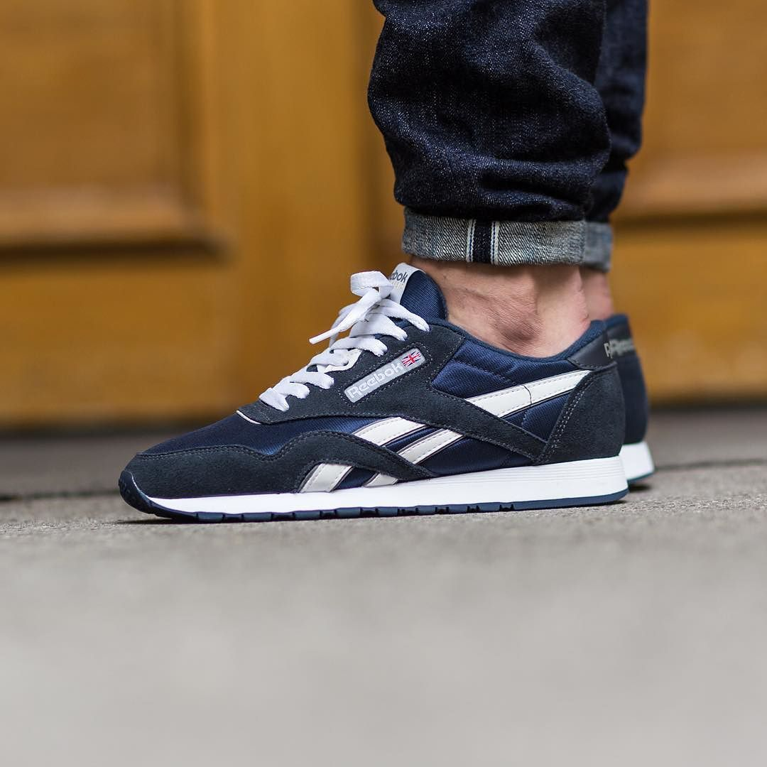c5456cb9ab9 Reebok Classic Nylon  Team Navy Platinum  Available  titoloshop by  titoloshop