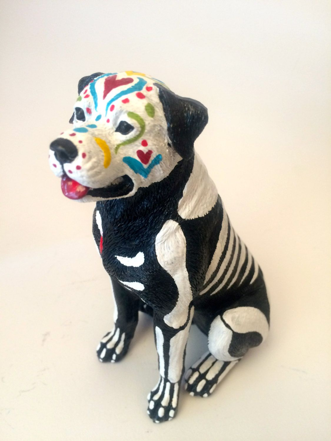 Day of the dead great dane dog sugar skull pet memorial dia de los day of the dead rottweiler dog sugar skull pet memorial dia de los muertos sculpture dog dailygadgetfo Choice Image