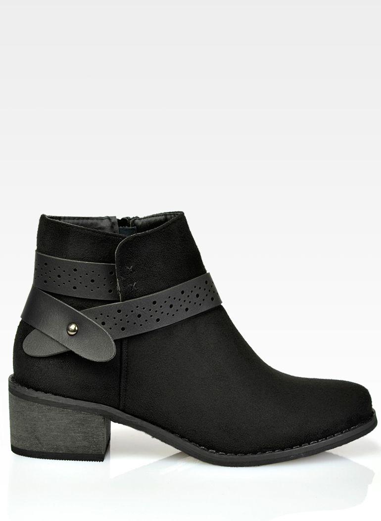 28d0c40d1ce5f Zamszowe zgrabne czarne botki 36-41 | Kocham buty :) | Boots, Shoes ...