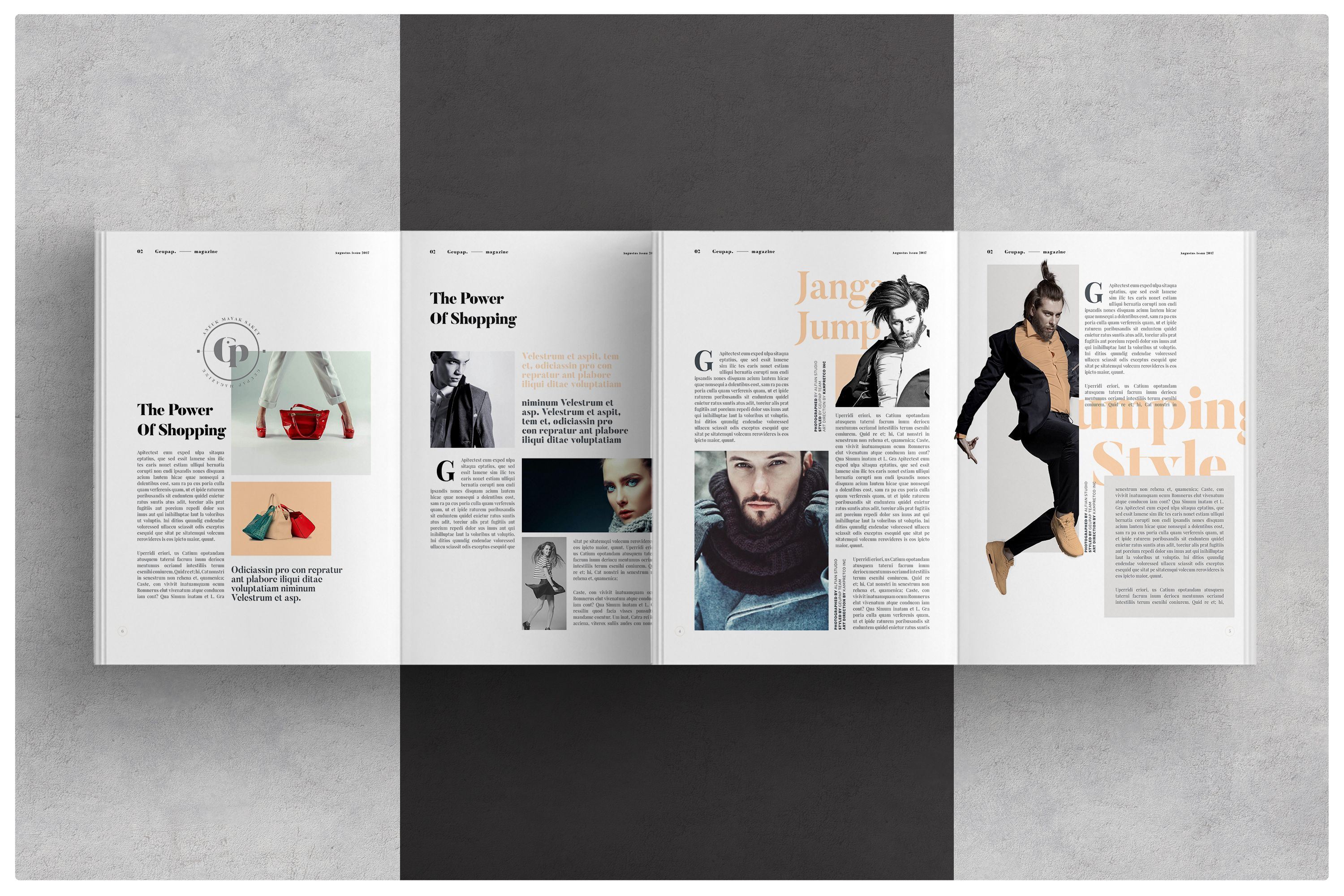 Lookbook template brochure folio modern magazine hipster Modern design magazine