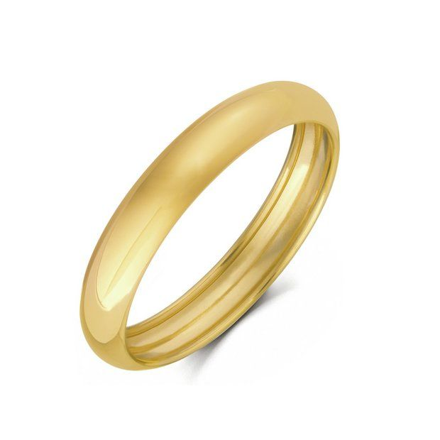Buy 9ct Gold Rolled Edge Wedding Ring - 4mm at Argos.co.uk - Your ... 2d1a18169ee0
