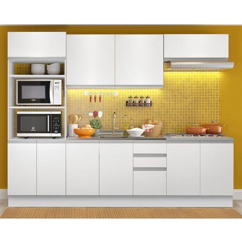 Cozinha Compacta Com Balcao Para Pia E Cooktop Magali Branco