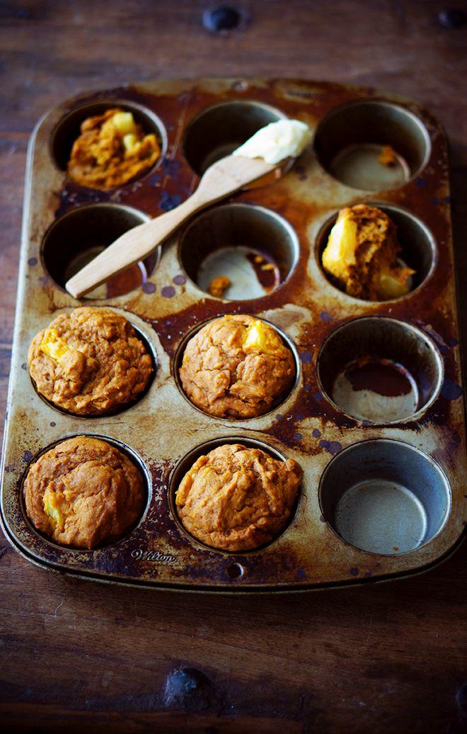 Pumpkin Pineapple Spice Muffins | Foodess