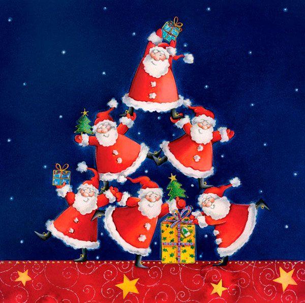 Julekort uden støtte. Julemænd, julenat, firmajulekort ...
