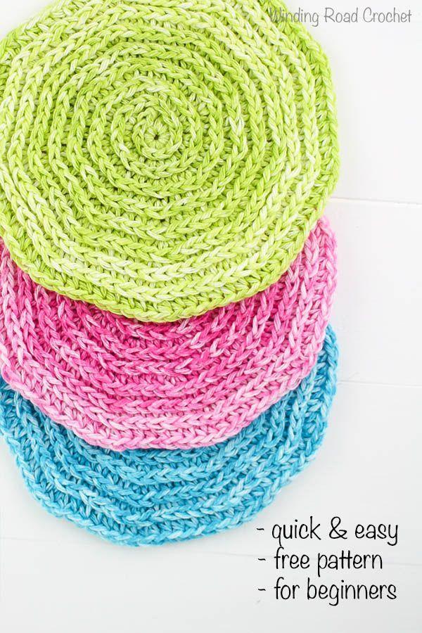 Seeing Spirals Washcloth Free Crochet Pattern Community Crochet