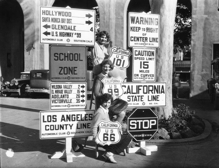 Automobile Club Of Southern California, Road Sign Posting