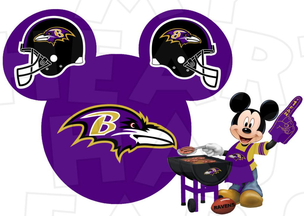 47fc15c1 Baltimore Ravens football with Mickey Mouse INSTANT DOWNLOAD digital ...