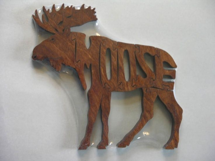 Moose Animal Puzzle Wooden Cabin Decor