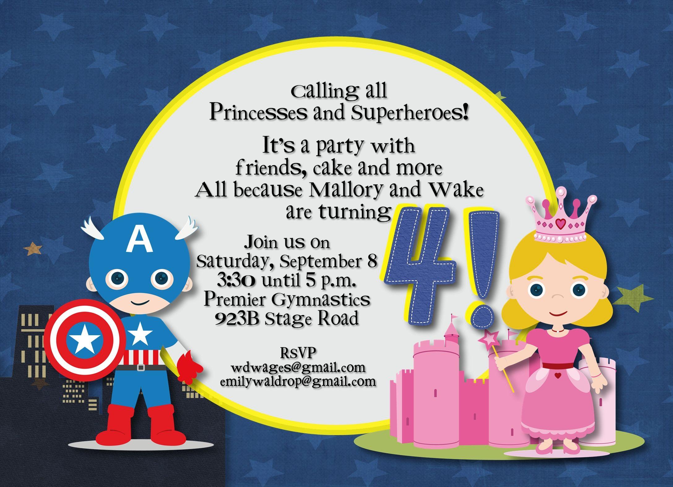 Superhero and Princess Party | WDWdesigns | Pinterest | Princess ...