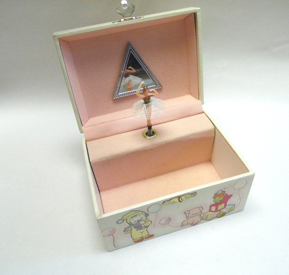 Circus Jewelry Box Pop Up Spinning Ballerina Music Box princess
