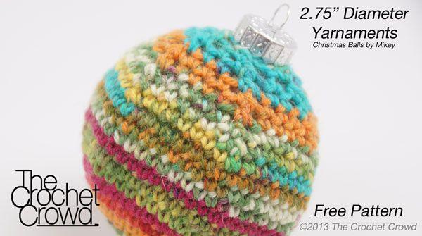 "2.75"" Diameter Crochet Christmas Balls Pattern"
