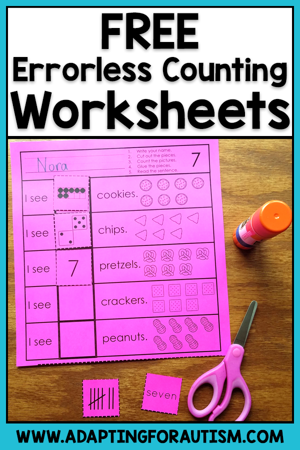 Grab These Free Math Worksheets To Practice Basic Math Skills Like Counting And Recognizing Numb Special Education Worksheets Math Worksheets Basic Math Skills