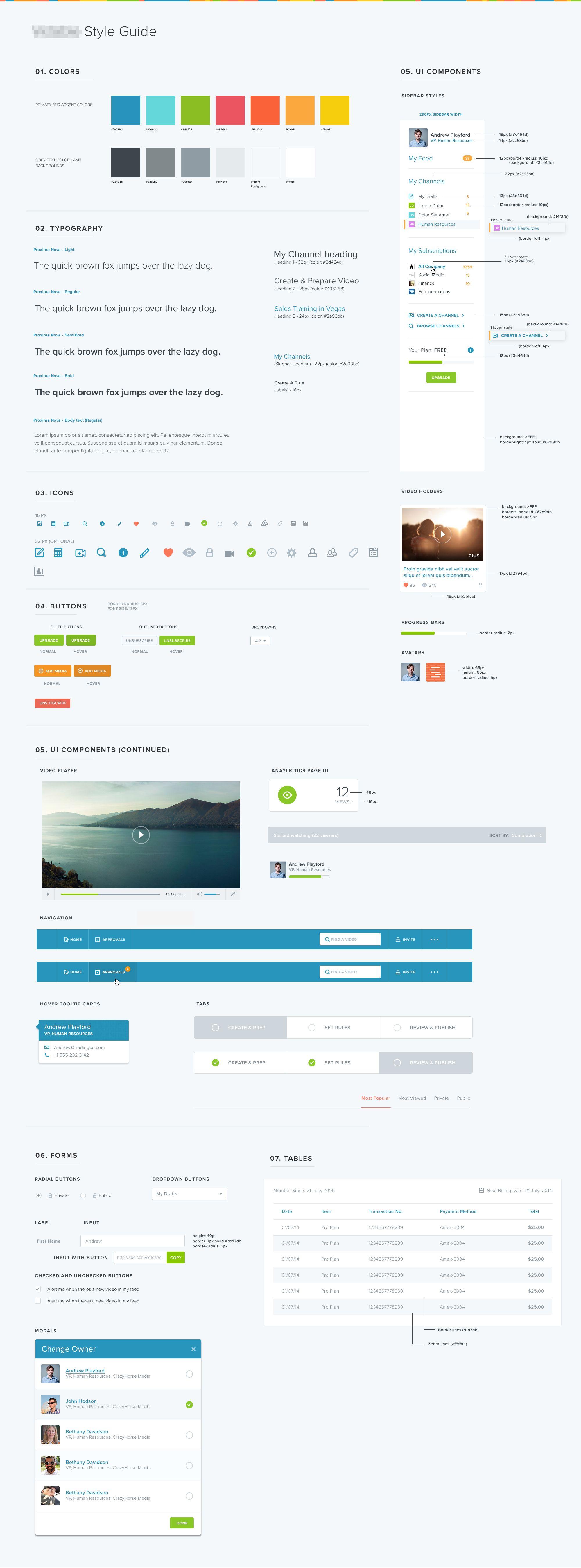 Style Guide App 1a 웹 스타일 가이드 웹디자인 앱