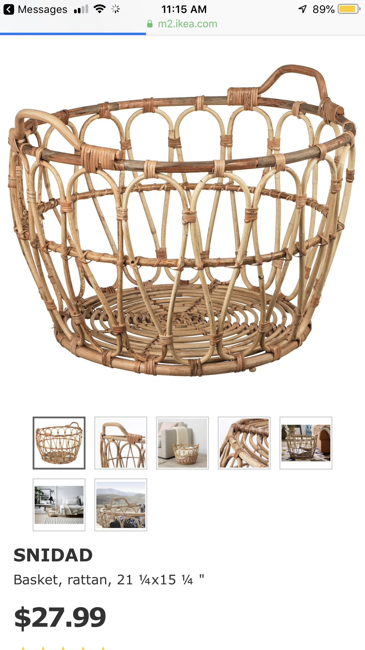 Snidad Basket Rattan Ikea In 2020 Amazon Home Decor Home Decor Styles Decor