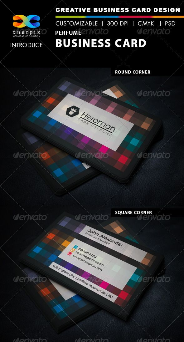 Perfume Business Card   Business cards, Perfume and Business