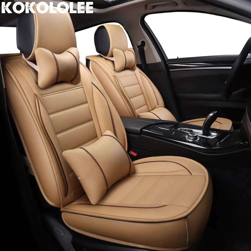 Eco-leather black//beige Car seat covers fit NISSAN QASHQAI 2013-ON