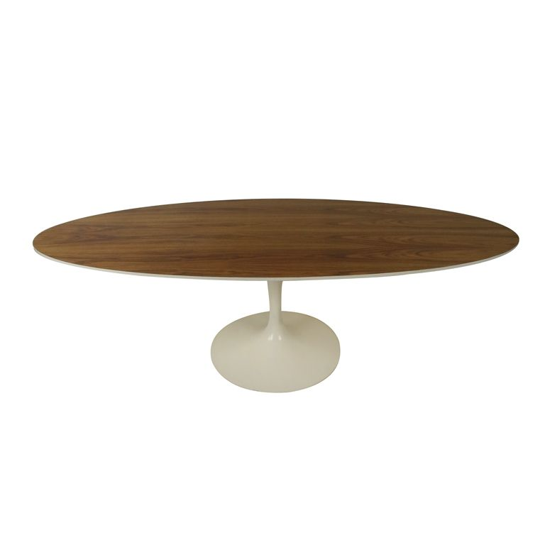 Mid Century Modern Oval Pedestal Table By Knoll Midcentury Modern - Knoll pedestal table