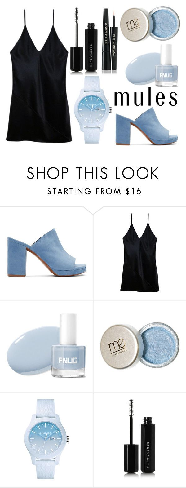 """mules ll"" by ajdallas ❤ liked on Polyvore featuring Robert Clergerie, Fleur du Mal, Lacoste, Marc Jacobs, Dolce&Gabbana and mules"