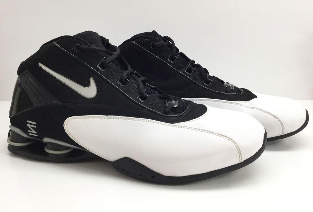 Nike Ini Shox Zoom Air 306869 Black White Basketball Shoes 2003 Mens Sz 15   37d2cec9d