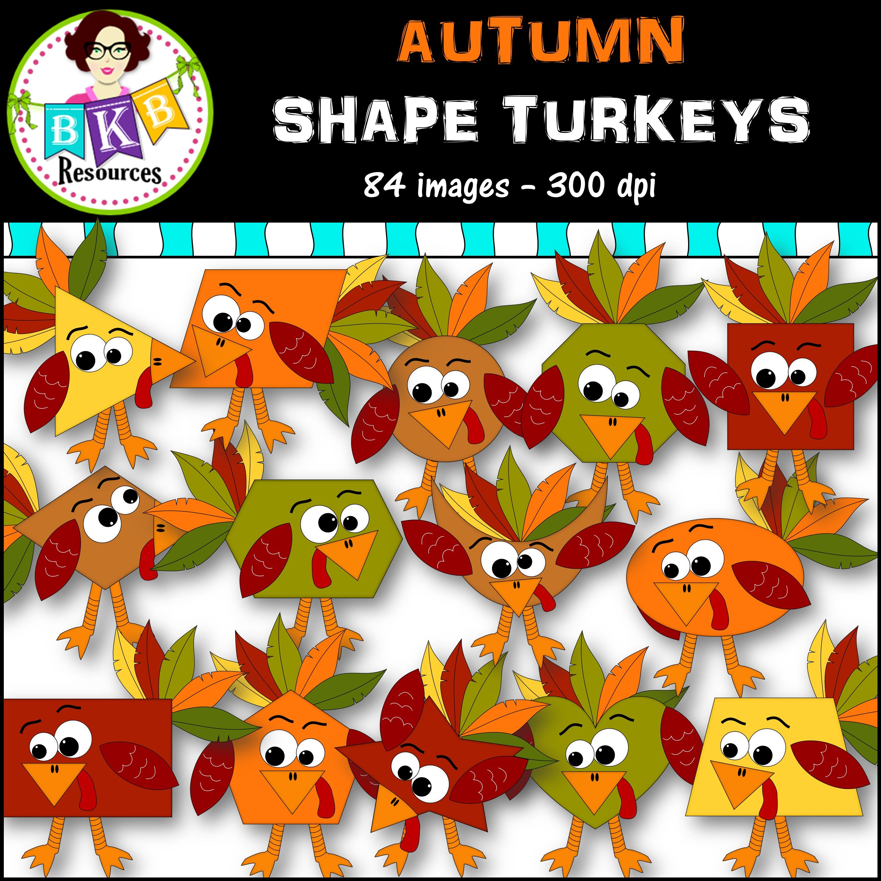 Clip Art ○ Autumn Shapes Turkey Pack ○ Digital Images ○ Products ...